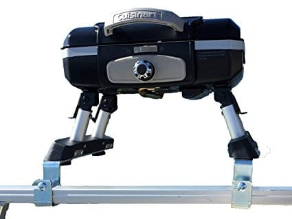 Cuisinart Pontoon Grill with Arnall's Pontoon Grill Bracket Set