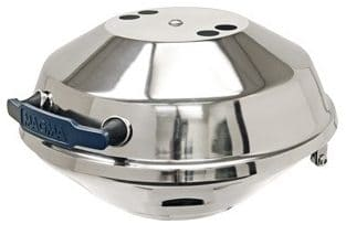 Magma Marine Kettle Gas Pontoon Boat Grill, Stainless Steel